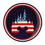 Disney Dinner Plate - Americana Mickey Mouse and Fantasyland Castle