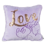 Disney Throw Pillow - Minnie Mouse Love - Purple