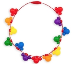Disney Glow Necklace - Mickey Mouse Rainbow - Light Up