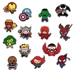 Disney Mystery Pin Pack - Marvel - Kawaii Art - 5 Random