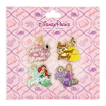 Disney Pin Booster Set - Disney Princess Text - 4 Pins