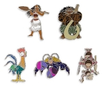 Disney Animation Film Pin Set - Moana - 5 Pins