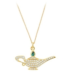 Disney Crislu Necklace - Genie Lamp - Pave