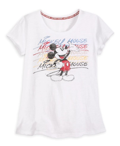Disney T-Shirt for Women - Mickey Mouse Signature Timeless - White