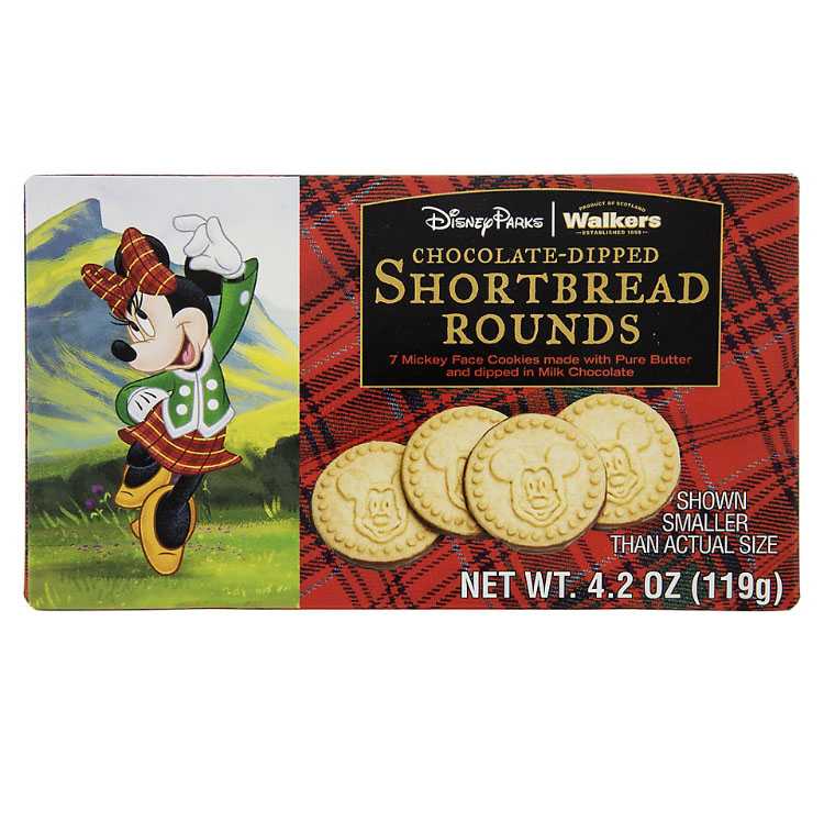 Disney Shortbread Rounds - Mickey Chocolate Dipped Cookies - 4.2oz