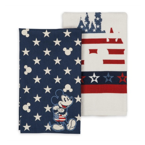 Disney Kitchen Towel Set - Mickey Mouse Americana - Stars and Stripes
