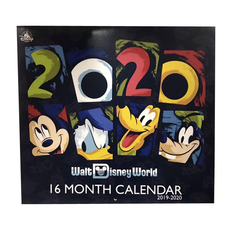 Calendar For 2020-16 Disney Calendar   2019 to 2020 Walt Disney World   16 Month