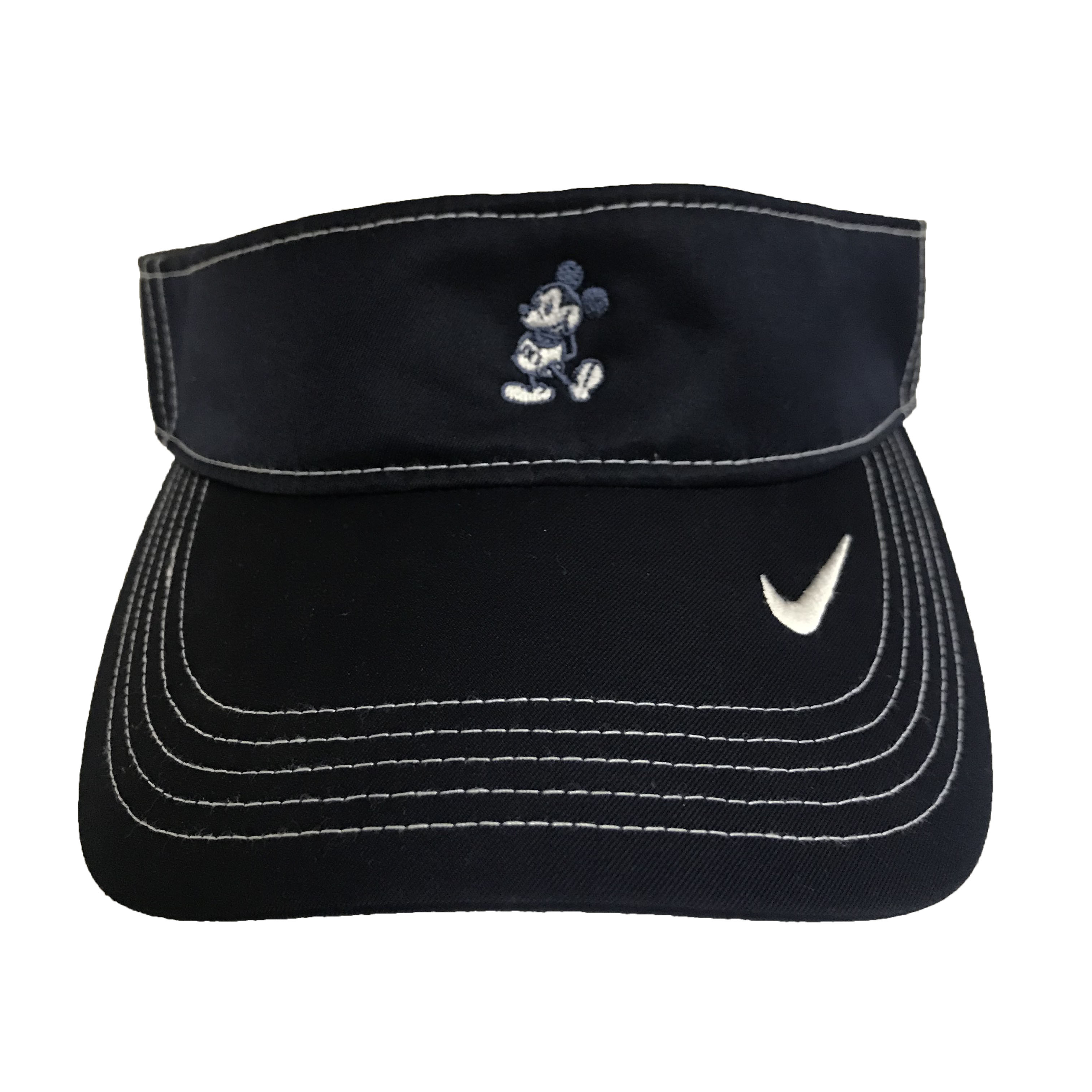 62efbcb4b11 Disney Sun Visor Hat - Nike Mickey Mouse - Navy