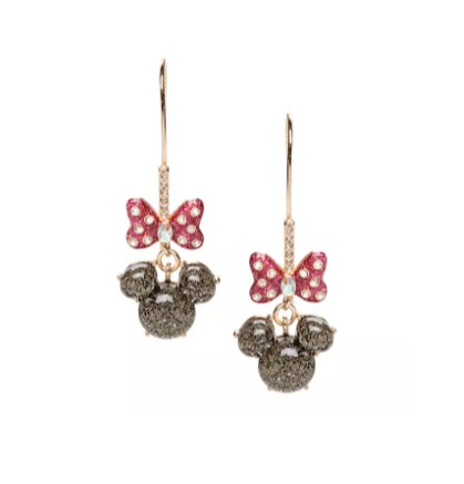 Disney Betsey Johnson Earrings - Minnie Mouse Icon and Bow