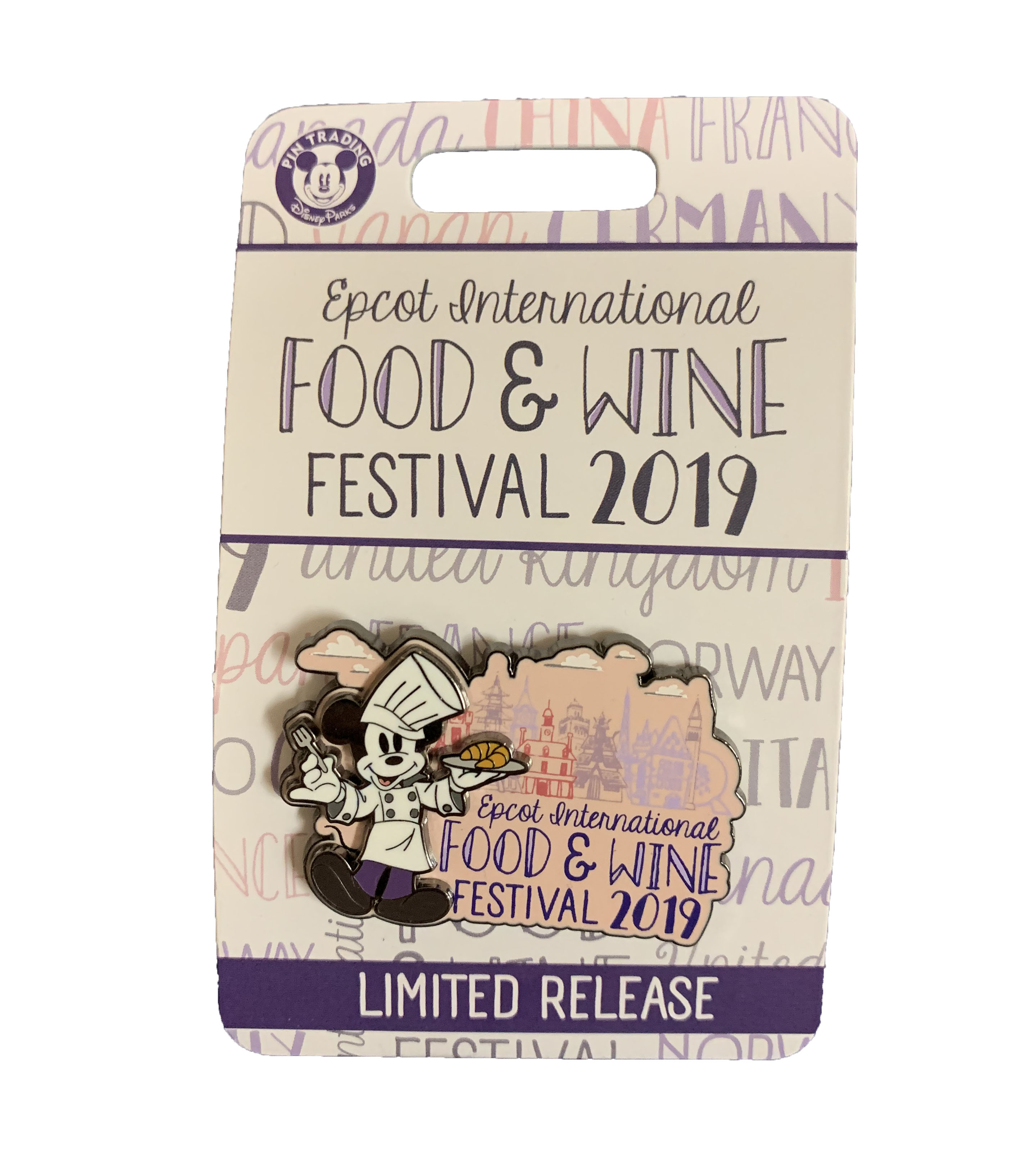 Disney Food & Wine Festival Pin - 2019 Mickey Mouse - Logo