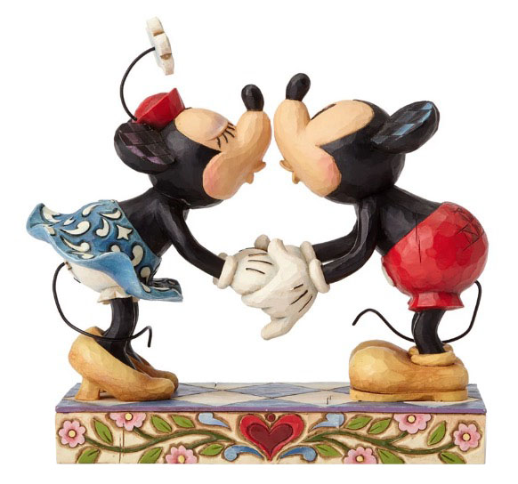 Disney Jim Shore Figure - Mickey & Minnie - Smooch for my Sweetie