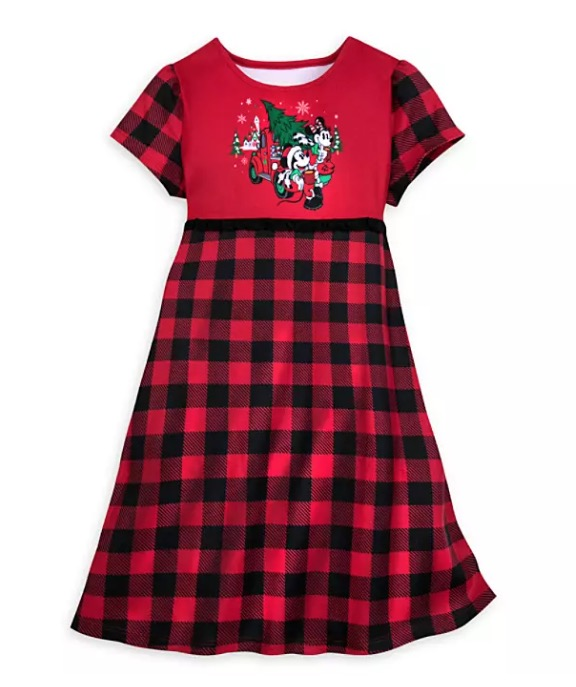 Minnie Mouse Christmas Dress.Disney Nightshirt For Girls Holiday Mickey And Minnie Mouse Plaid