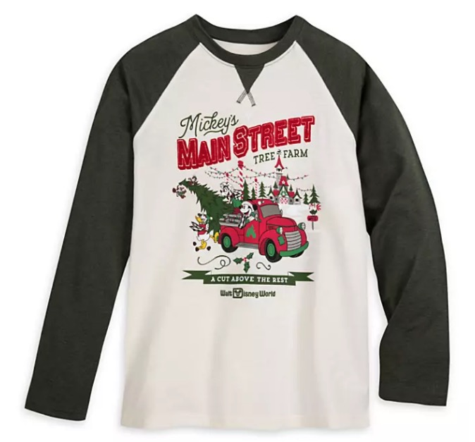 Disney Shirt for Adults - Holiday Mickey and Friends Raglan - Tree Farm