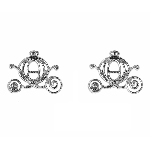 Disney Rebecca Hook Earrings - Cinderella Carriage - Silver