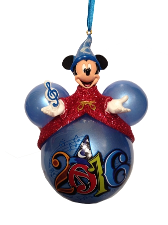 disney christmas ornament 2016 icon sorcerer mickey mouse on top - Disney Christmas Ornaments