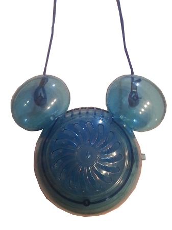 Disney Necklace Fan - Mickey Mouse - Light Up - Blue