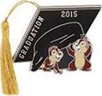 Disney Graduation Day Pin - 2015 Graduation - Chip and Dale