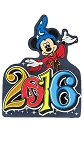 Disney Antenna Topper - 2016 Logo - Sorcerer Mickey Mouse
