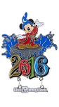 Disney Magnet - 2016 Sorcerer Mickey - Walt Disney World - Metal