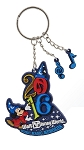 Disney Keychain - 2016 Sorcerer Mickey Mouse - Rubber