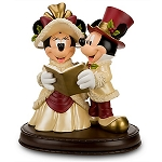 Disney Medium Figure - Victorian Christmas Minnie and Mickey Mouse