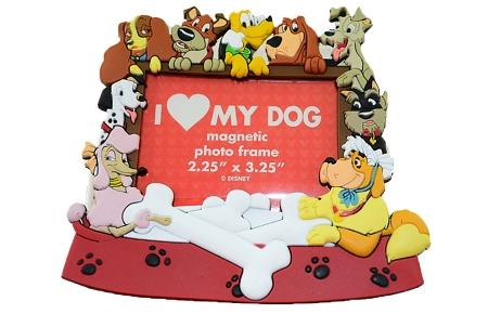 Disney Photo Frame Magnet - I Love My Dog - Disney Dogs