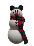 Disney Antenna Topper - Mickey Mouse Snowman - Holiday