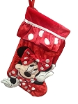Disney Christmas Stocking - Minnie Mouse with Bow - Red