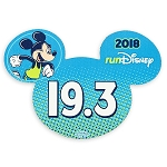 Disney Auto Magnet - 2018 Run Disney - Mickey Mouse - 19.3