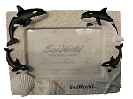 Sea World Photo Frame - Shamu and Family - Sand & Seashells