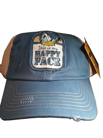 Disney Hat - Baseball Cap - Donald Duck - This is my Happy Face 99503db8a31e