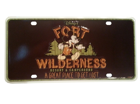 Disney License Plate - Fort Wilderness Resort & Campground