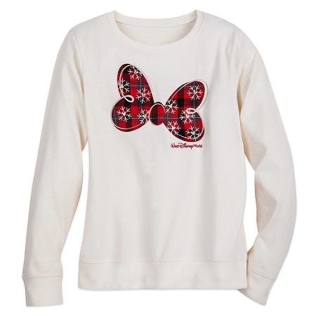 Disney Long Sleeve Shirt for Women - Minnie Mouse Holiday Bow - White 1895e0d01e