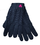 Disney Knit Gloves - Mickey Mouse Pink Icon - Blue