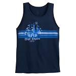 Disney Tank Top for Men - Magic Kingdom - Walt Disney World - Blue
