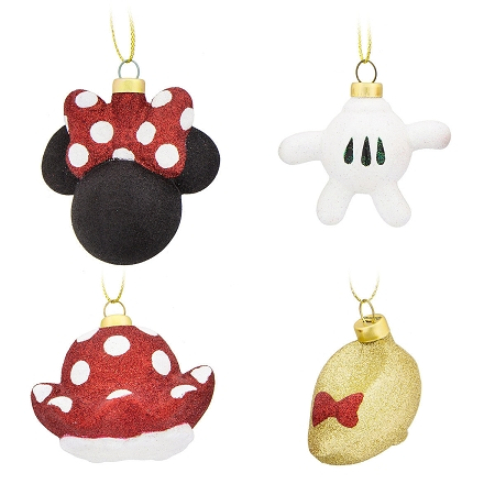 disney christmas ornament set minnie mouse body parts set of 4
