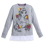 Disney Boutique Shirt for Women - Belle Pleated-Hem Fashion Top