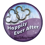 Disney Souvenir Button - Happily Ever After - Cinderella Castle