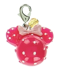 Disney Dangle Charm - Charmed in the Park - Minnie Mouse Round - Pink