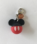 Disney Dangle Charm - Charmed in the Park - Mickey Mouse Icon - Round