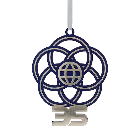 Disney Parks EPCOT 35th Anniversary Holiday Christmas Ornament NEW