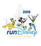 Disney Auto Magnet - 2018 Run Disney - Mickey and Friends