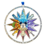 Disney Disc Ornament - Mickey Four Parks Compass - Spinner