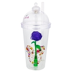 Disney Tumbler with Straw - 2018 Epcot Flower and Garden - Purple Rose