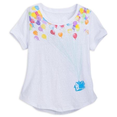 Disney Shirt for Women - Pixar UP Balloons - White