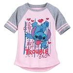 Disney Shirt for Girls - Stitch - So Cute But A Lot of Trouble