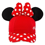 Disney Hat - Baseball Cap - Minnie Mouse with Ears - Red - Youth