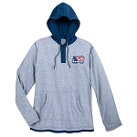 Disney Pullover Hoodie for Men - Mickey Mouse Americana - Gray