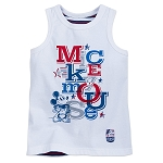 Disney Tank Top for Boys - Mickey Mouse Americana - White