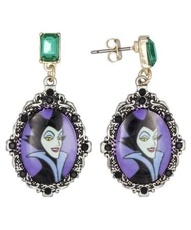 Disney Dangle Earrings - Magic and Mischief - Maleficent Cameo
